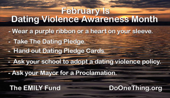 Do One Thing - February is Dating Violence Awareness Month
