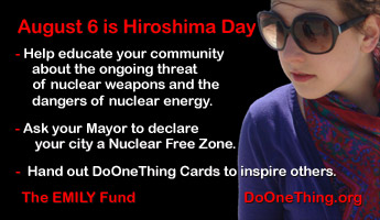Do One Thing - Hiroshima Day - August 6