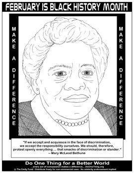 Do one thing february is black history month for Black history month coloring pages for preschoolers