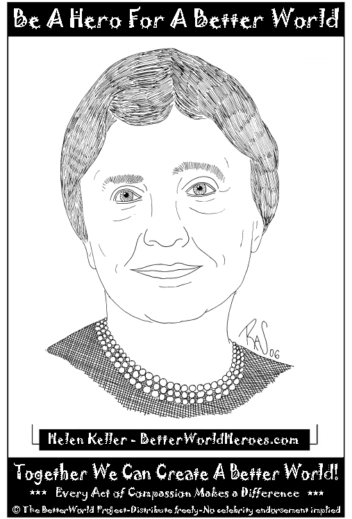 coloring pages of helen keller - photo#11