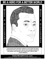 Civil Rights >> James Baldwin - Do One Thing - Heroes for a Better World - ColorMe Pix