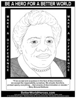 Mary mcleod bethune do one thing heroes for a better for Mary mcleod bethune free coloring pages
