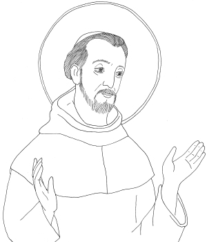 St francis of assisi do one thing heroes for a better for St francis of assisi printable coloring page