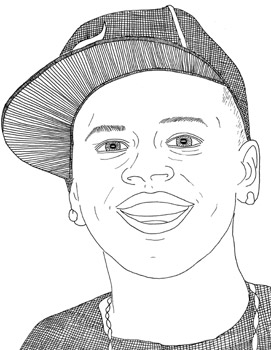 chris brown pages coloring pages